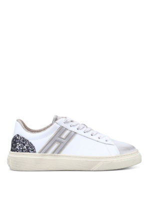 Hogan: trainers - H Flock embellished sneakers