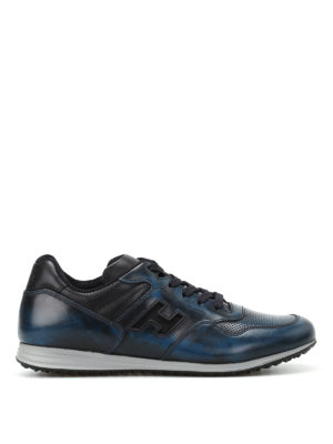 Hogan: trainers - H205 Olympia blue leather sneakers