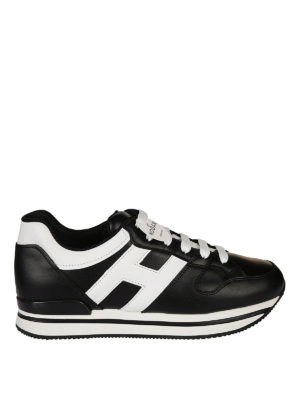 Hogan: trainers - H222 black and white sneaker