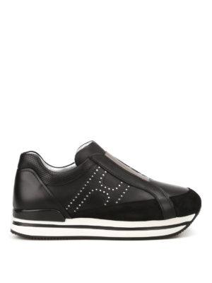 Hogan: trainers - H222 black slip-ons