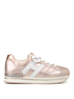 Hogan: trainers - H222 bronze leather sneakers