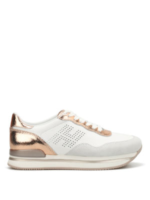 Hogan: trainers - H222 drilled H leather sneakers