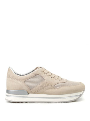 Hogan: trainers - H222 fabric and suede sneakers