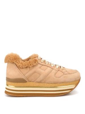 10c0193e4 HOGAN: sneakers - Sneaker H222 con finta pelliccia