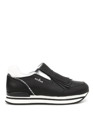 Hogan: trainers - H222 fringed leather slip-ons