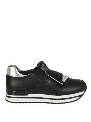 HOGAN: sneakers - Sneaker slip-on H222 con frange