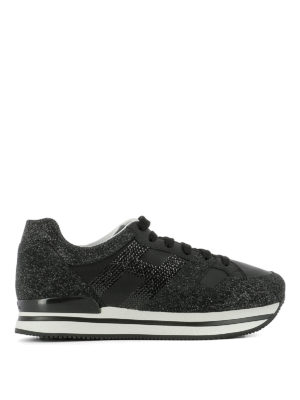Hogan: trainers - H222 glitter embellished sneakers