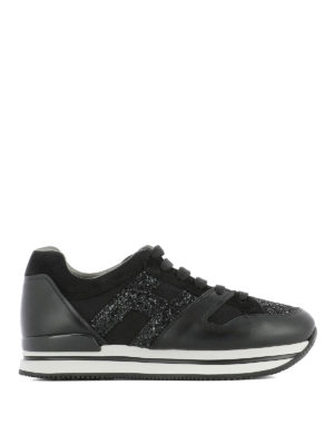 Hogan: trainers - H222 glitter H leather sneaker