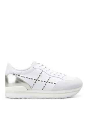 Hogan: trainers - H222 lace-up leather sneakers