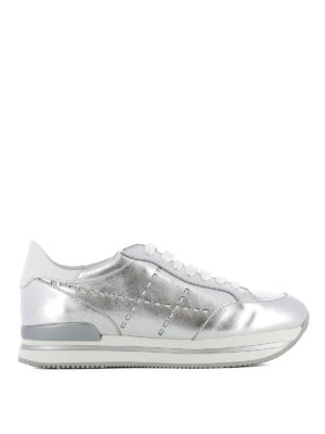 Hogan: trainers - H222 laser H leather sneaker