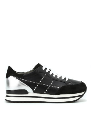 Hogan: trainers - H222 leather and suede sneakers