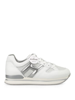Hogan: trainers - H222 lurex and leather sneakers