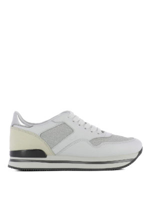 Hogan: trainers - H222 lurex inserts leather sneaker