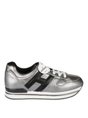 Hogan: trainers - H222 metallic leather sneaker