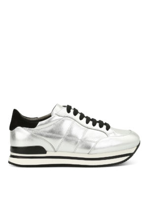 Hogan: trainers - H222 metallic leather sneakers