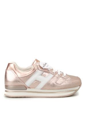 Hogan: trainers - H222 metallic leather sneakers