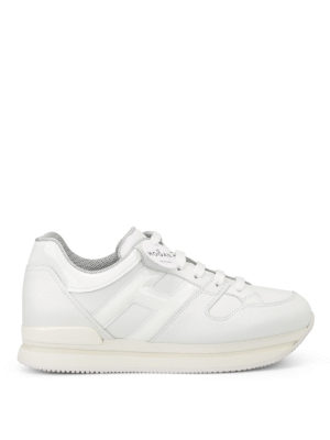 Hogan: trainers - H222 patent leather detail sneakers