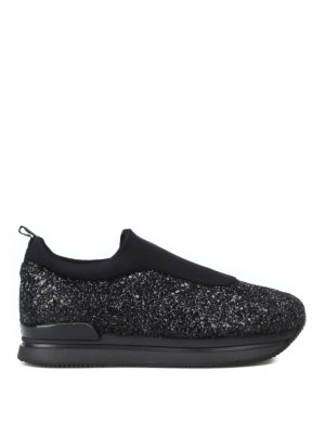 HOGAN: sneakers - Slip-on H222 in scuba e glitter