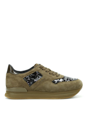 Hogan: trainers - H222 sequined sneakers