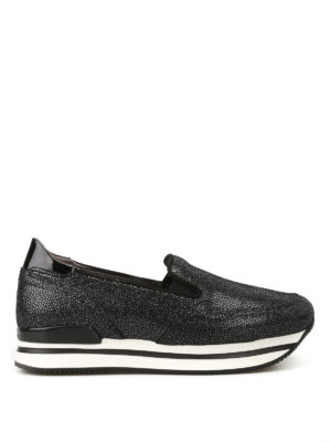 Hogan: trainers - H222 shiny suede slip-ons