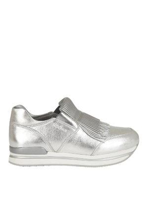 HOGAN: sneakers - Slip-on H222 argento con frange