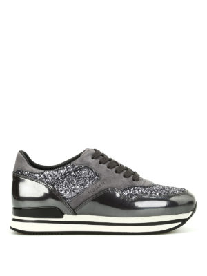 Hogan: trainers - H222 sneakers with glitter inserts
