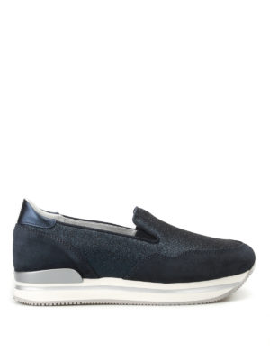 Hogan: trainers - H222 suede and glitter slip-ons