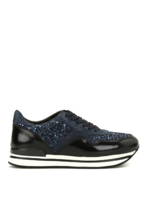 Hogan: trainers - H222 suede and glitter sneakers