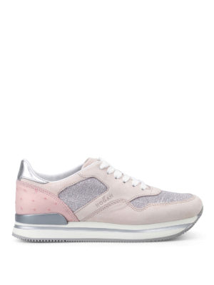 Hogan: trainers - H222 suede and lurex sneakers