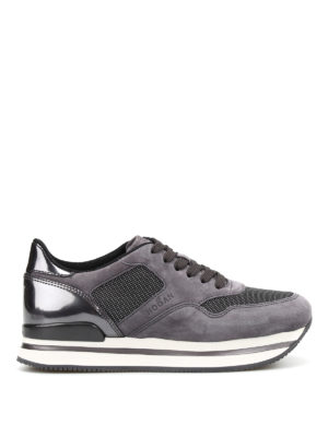 Hogan: trainers - H222 suede and metallic sneakers