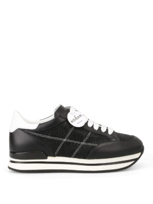 Hogan: trainers - H222 tonal lurex inserts sneakers