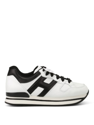 Hogan: trainers - H222 two-tone leather sneakers