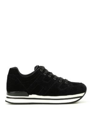 Hogan: trainers - H222 velvet sneakers