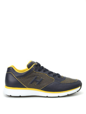 Hogan: trainers - H254 drilled leather sneakers
