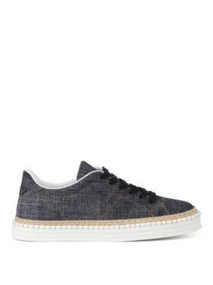Hogan: trainers - H260 denim and jute sneakers
