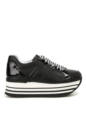 Hogan: trainers - H283 embellished laces sneakers