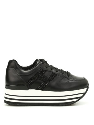 Hogan: trainers - H283 maxi sole embellished sneakers