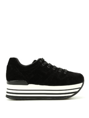 Hogan: trainers - H283 maxi sole velvet sneakers