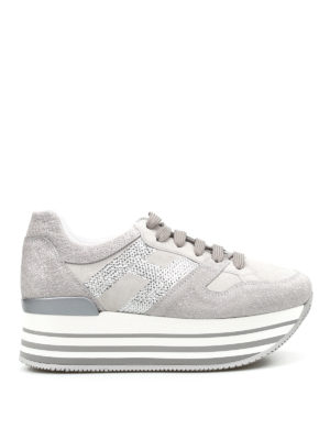 Hogan: trainers - H283 sequined H maxi sneakers