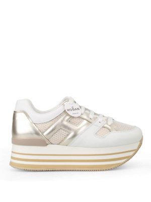 Hogan: trainers - H283 sneakers with maxi 222 sole