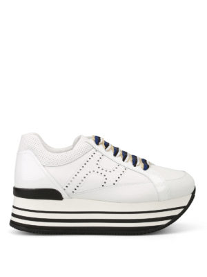 Hogan: trainers - H283 striped laces sneakers