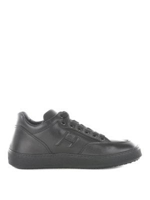 Hogan: trainers - H302 mid top leather sneakers