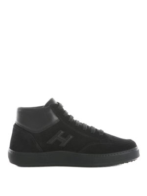 Hogan: trainers - H302 mid top suede sneakers