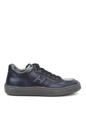 Hogan: trainers - H320 Leather Mid Cut sneakers