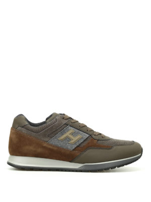 Hogan: trainers - H321 3D H logo patch sneakers