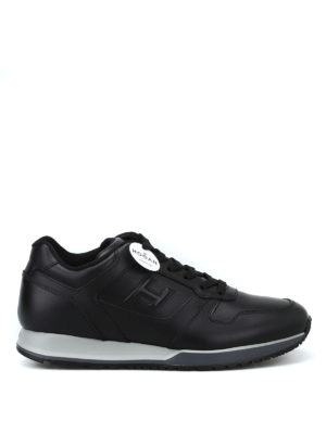 HOGAN: sneakers - Sneaker H321 in pelle nera