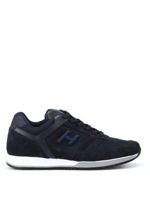 Hogan: trainers - H321 blue sneakers