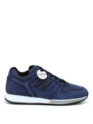 HOGAN: sneakers - Sneaker H321 in crosta blu