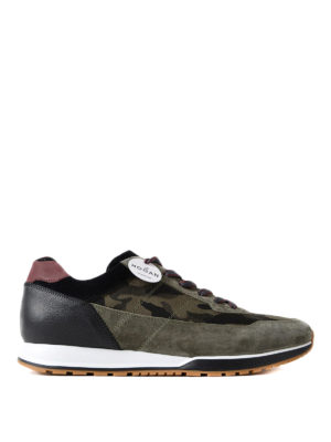 Hogan: trainers - H321 camouflage print sneakers