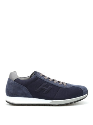 Hogan: trainers - H321 fabric and suede sneakers